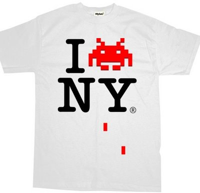 i love ny space invader tshirt