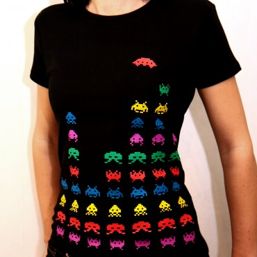 space invaders tshirt byelove